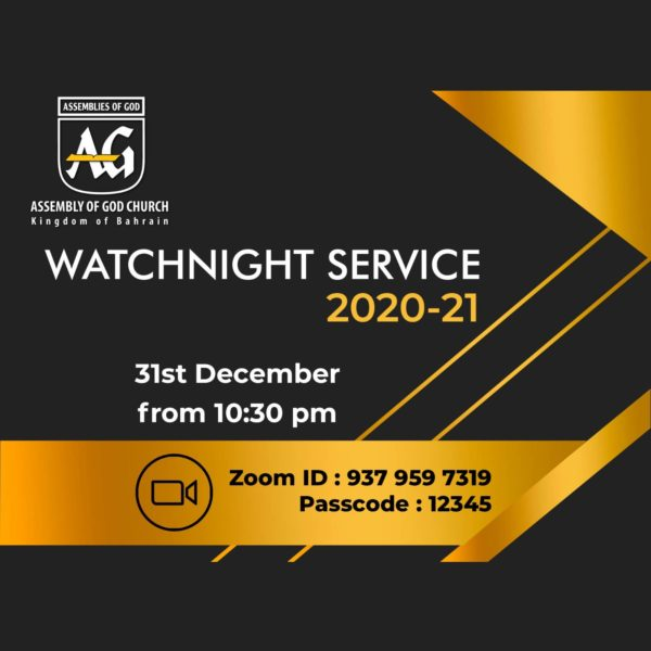 WATCHNIGHT SERVICE - 2020-21